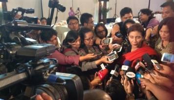 Foto Ditanya Soal Penenggelaman Kapal, Susi: No Comment, No Comment