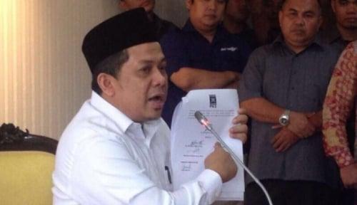 Foto Fahri Geram Novanto Dicekal KPK