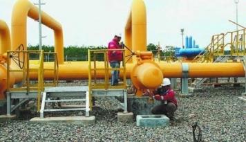 Foto Produksi Gas Subang Field Lampaui Target