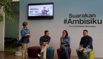 Foto Gelar Festival #Ambisiku, Tri Indonesia Jaring 18 Juta Generasi Muda