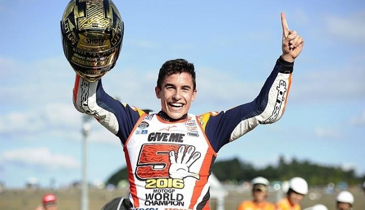 Foto Berita Juarai GP Belanda, Marquez Jauh Tinggalkan Rossi