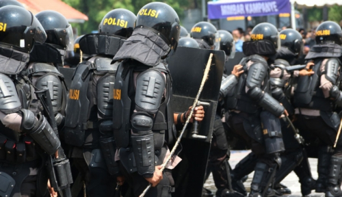 Foto 2.000 Personel Ikut Amankan Kungker Jokowi di NTT