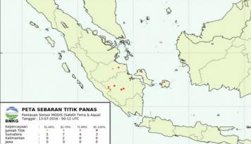 Foto BMKG Deteksi Titik Panas Baru di Aceh