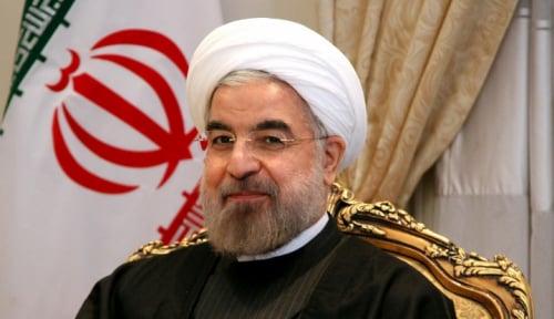 Foto Presiden Iran Kecam Pidato Calon Presiden AS