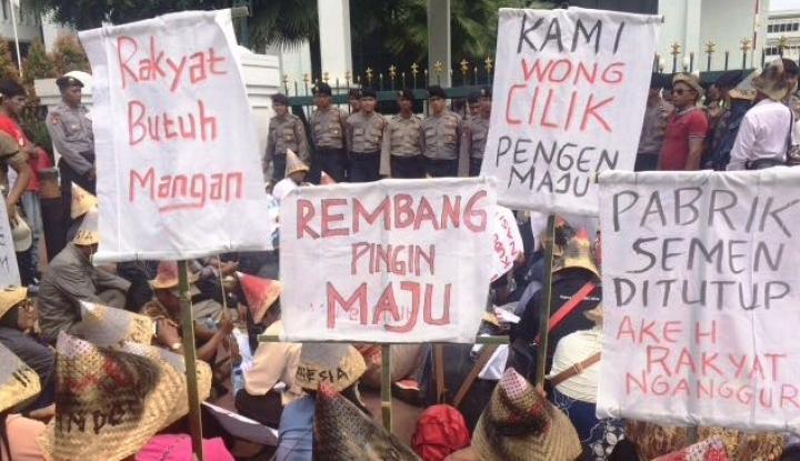 Foto Berita Para Penolak Pabrik Milik Semen Indonesia Diduga Karena Pengaruh LSM