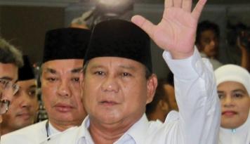 Foto Prabowo Resmikan Kantor Gerindra Sulteng