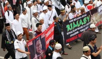 Foto Polisi Minta Aksi GNPF Tidak Intervensi Pengadilan