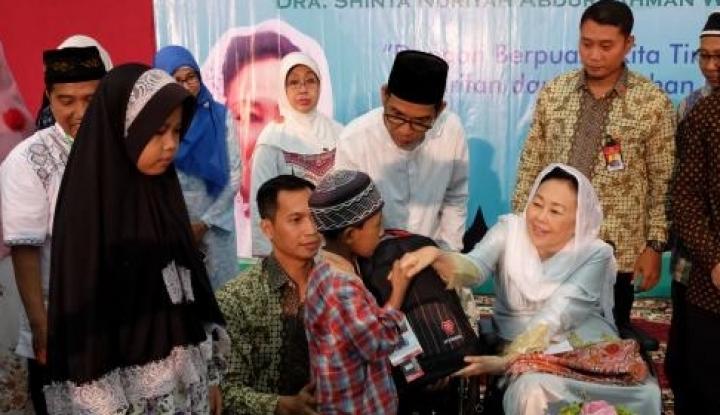 AHY dan Ibas Halalbihalal ke Sinta Nuriyah Wahid, Ini yang Dilakukan