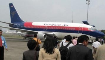 Foto Ini Pernyataan Sriwijaya Soal Pesawat Tergelincir di Manokwari