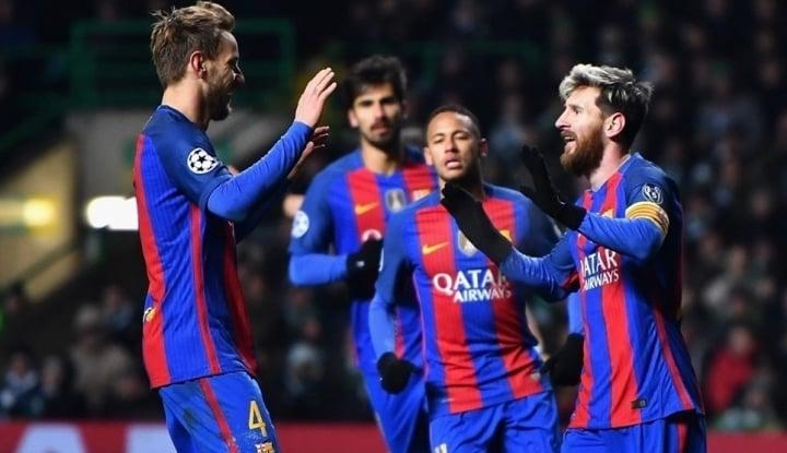 Foto Berita Sempat Tertinggal, Messi Bawa Barca Masuk Delapan Besar Piala Raja
