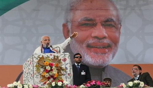 Foto Mantan PM India Manmohan Singh Sebut Kebijakan Modi