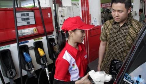 Foto Pertamina Bangun 108 SPBU Mini