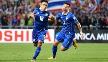 Foto Thailand Mengaku Beruntung Bisa Tumbangkan Timnas Indonesia