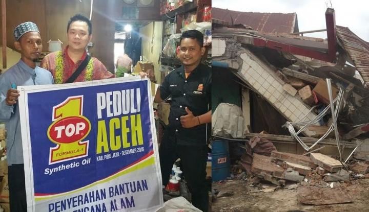 Foto Berita Oli TOP1 Sumbang Korban Gempa Aceh dengan Lunasi Utang Bengkel Rekanan