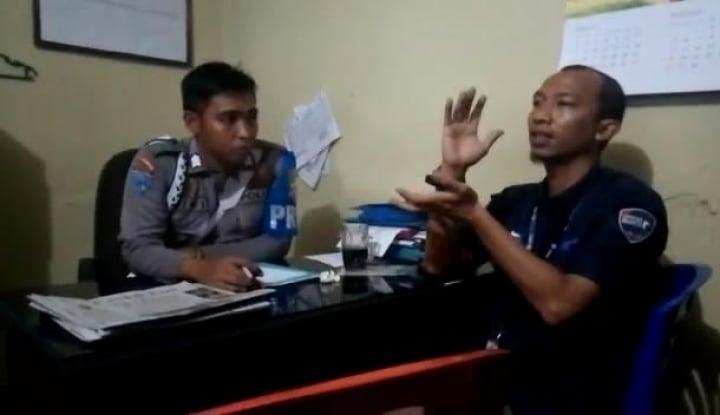 Foto Berita Dapat Perlakuan Kasar Oknum Polisi, Jurnalis MNC Lapor Propam
