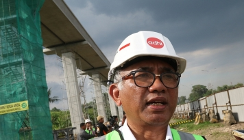 Foto Adhi Karya Bangun Depo LRT Jabodebek Rp1,4 Triliun