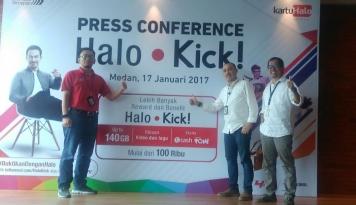 Foto Telkomsel Sumbagut Hadirkan Paket Layanan Halo Kick