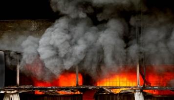 Foto Lapas Narkotika Langkat Diduga Dibakar, Para Napi Melarikan Diri