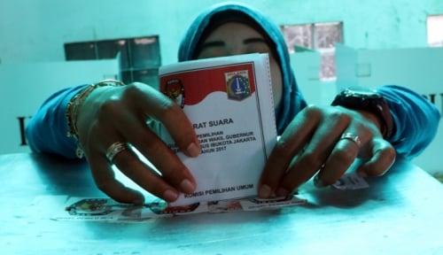 Foto Pemilu Berjalan Lancar, Kepercayaan Publik Meningkat