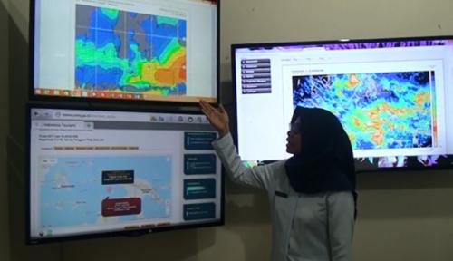 Foto BMKG Lampung; Harap Waspada Hujan Lebat dan Angin Kencang