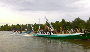 Foto Balikpapan Resmi Kembangkan Warna Warni Teluk Seribu