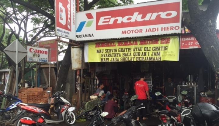 Foto Berita Jelang Lebaran Jasa Service Motor Mulai Dipadati