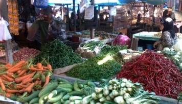 Foto Sayuran di Medan Langka dan Mahal