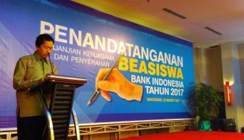 Foto BI Sulsel Gelontorkan Rp400 Juta untuk Beasiswa Mahasiswa