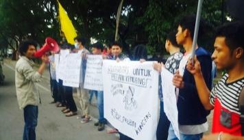 Foto Solidaritas untuk Petani Kendeng, Mahasiswa Makassar Desak Jokowi Turun Tangan