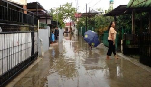 Foto Banjir Bikin Jalur Bandung-Garut Macet