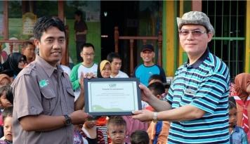 Foto OJK Sumbagut Bangun Rumah Baca di Deli Serdang
