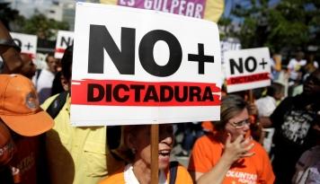 Foto Militer Venezuela Tewaskan Seorang Pengunjuk Rasa