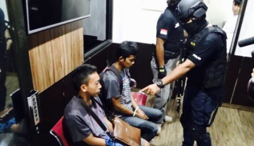 Foto Polisi Ciduk 'Biang Kerok' Pengedar Narkoba di Lhokseumawe