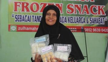 Foto Harum Frozen Snack, Peluang Emas bagi Nurlela Johan