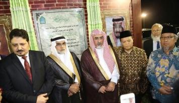 Foto Rektor Universitas Imam Arab Saudi, Resmikan Pembangunan Kampus LIPIA