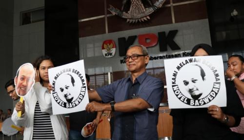 Foto KPK Belum Ketahui Motif Teror Terhadap Novel
