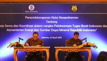Foto BI dan Kementerian ESDM Kerja Sama Tingkatkan Akses Keuangan