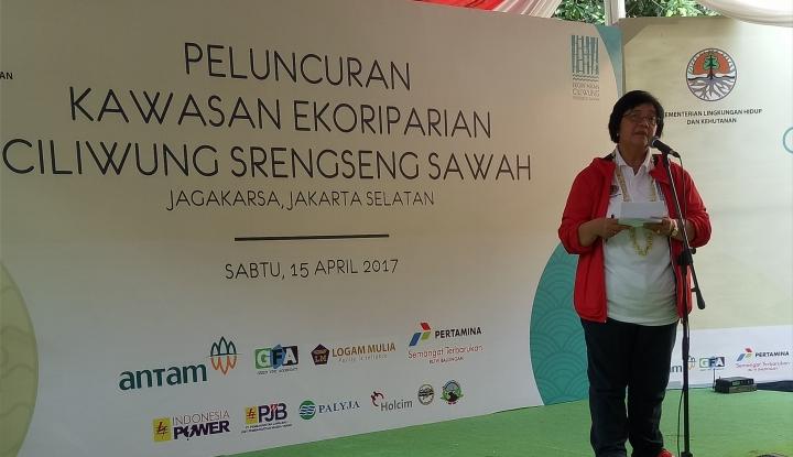 Foto Berita Menteri Siti Nurbaya Resmikan Kawasan Ekoriparian Ciliwung