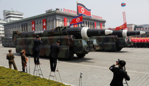 Foto Jelang Olimpiade Musim Dingin, Korea Utara Bakal Gelar Parade Militer