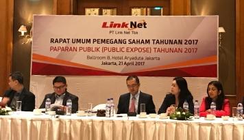 Foto Link Net Tebar Dividen Rp96,8 Persaham