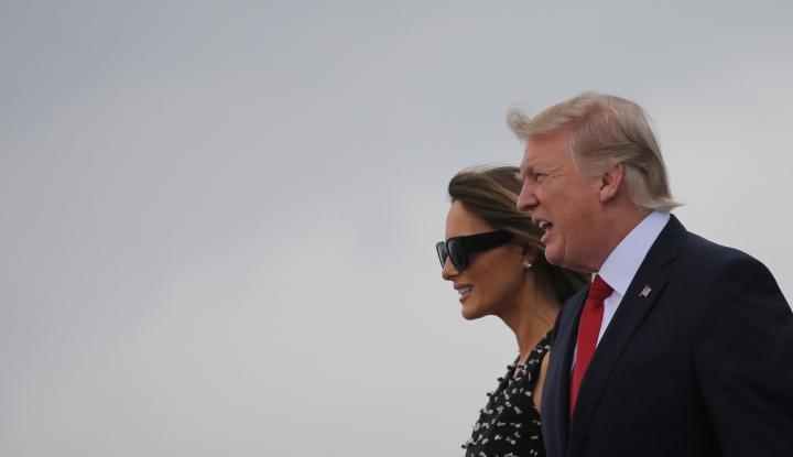 Foto Presiden Trump Akhiri Kunjungannya ke Luar Negeri