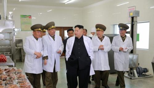 Foto Aksi Koboi Korea Utara Tembakkan Peluru Kendali