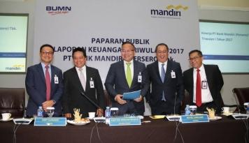 Foto Kuartal Satu 2017, Komitmen Kredit Bank Mandiri di Infrastruktur Capai Rp228 Triliun
