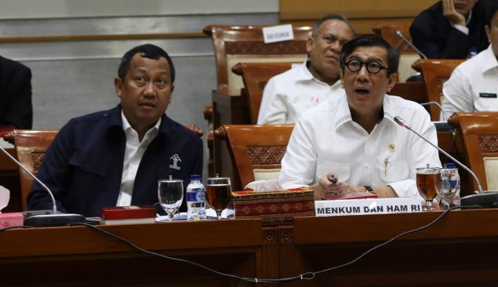 Foto Berita Perpres Pelibatan TNI dalam RUU Antiterorisme, Yasonna: Tak Perlu ke DPR