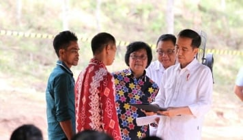 Foto Menteri LHK Dipanggil Presiden Jokowi ke Istana
