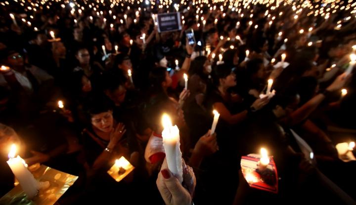 Foto Berita Hormati Lima Polisi Gugur, Tokoh Lintas Agama Gelar Doa Bersama