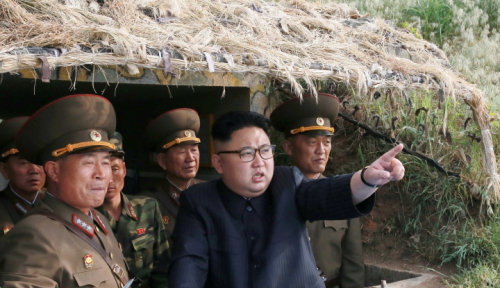 Foto Dahsyat, Kim Jong Un Rencanakan Kirim 4 Rudal ke WIlayah Guam