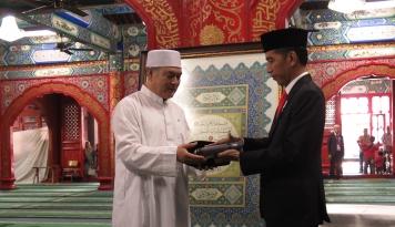 Foto Jokowi Kagumi Hubungan Muslim Indonesia dan China