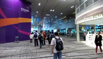 Foto Kebakaran Landa Terminal 2 Bandara Changi Singapura