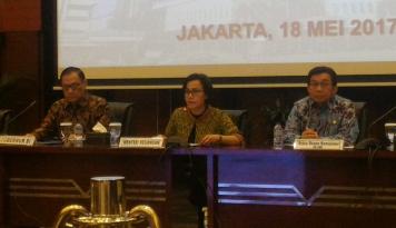 Foto Sri Mulyani: Sudah Seharusnya Indonesia Ikut AEoI